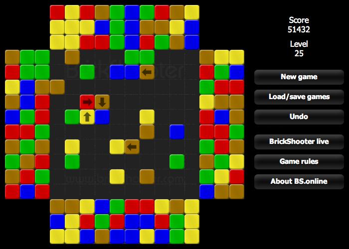 BrickShooter - obdoba známého Tetrisu