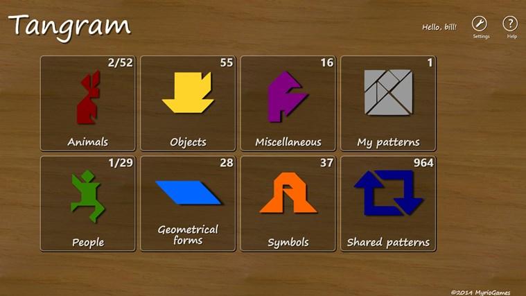Tangram -7 - hra na logické myšlení