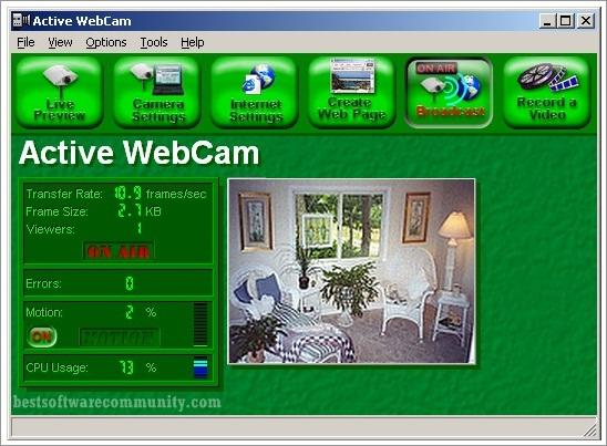 Active WebCam - rychlý webový přenos