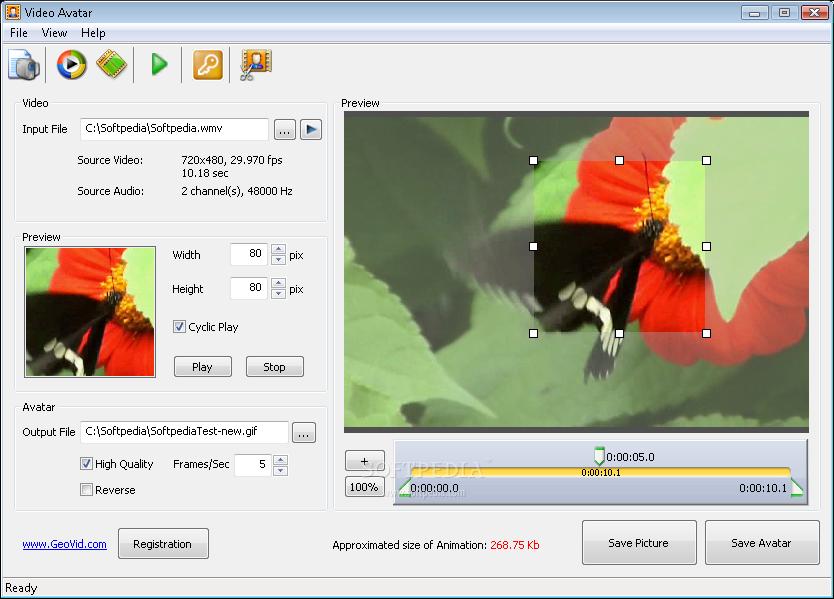 Video Avatar - snadná tvorba GIF animací