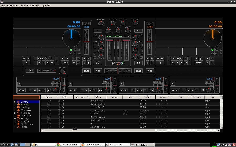 Mixxx - skvělý program pro DJ
