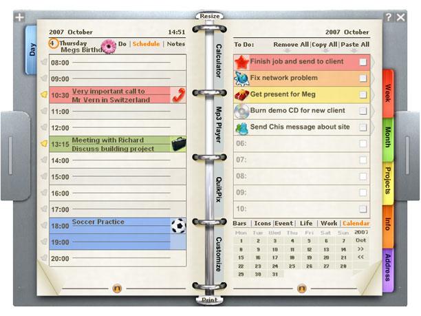 ORGANIZÉR - choďte na schůzky včas a připraveni