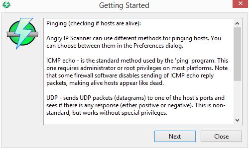 Angry IP Scanner: základní pojmy