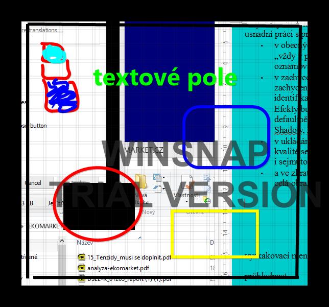 Možnosti editace snímku
