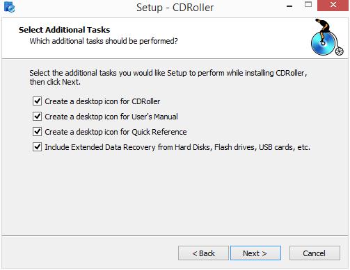 Nastavení instalace CDRoller