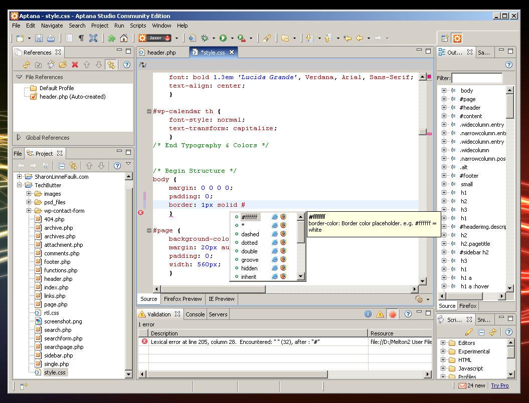 Aptana - vývoj AJAX aplikací