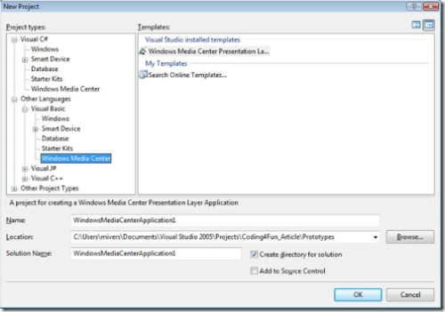 Microsoft Windows Media Center SDK
