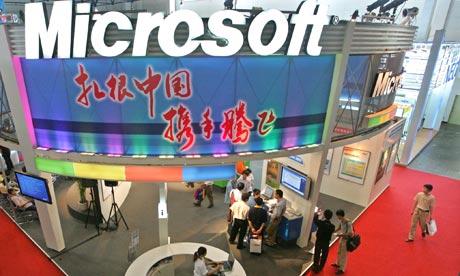 Čína provedla razii v Microsoftu