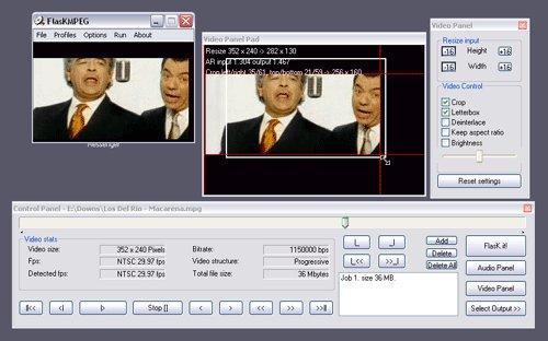 FlasKMPEG - konverze DVD do jiných formátů a to včetně úprav