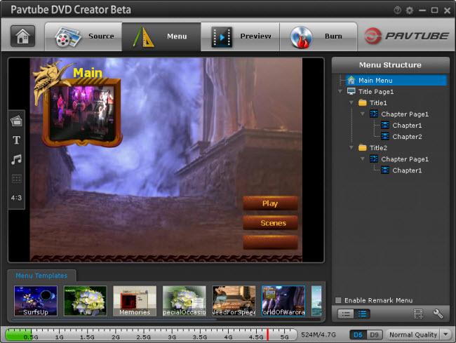 Pavtube DVD Creator - tvorba DVD přesně podle vašich představ