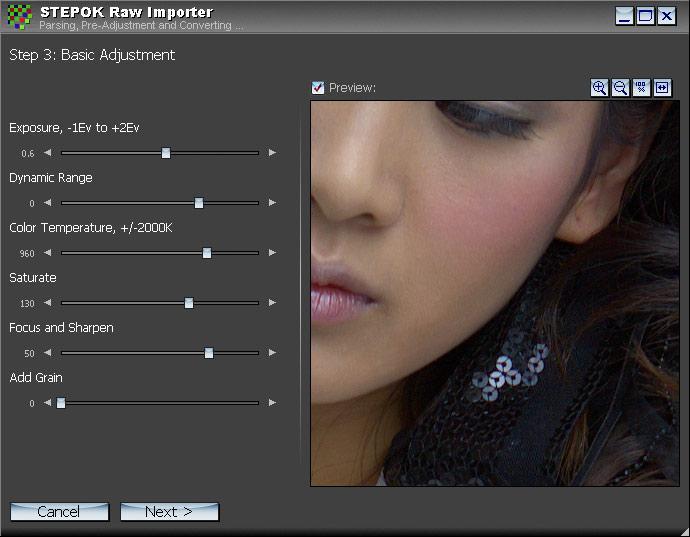 RAW Importer - převod RAW fotografií z fotoaparátu do vašeho počítače