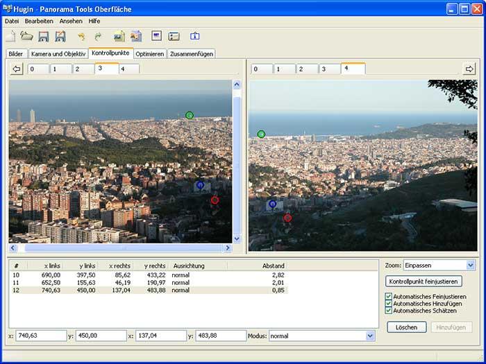 Hugin - snadná tvorba panoramatických fotografií