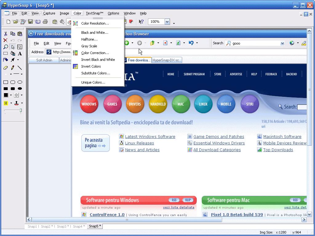 HyperSnap - rychlý a jednoduchý snímač obrazovky