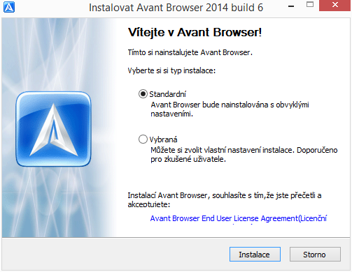 Instalace Avant Browseru