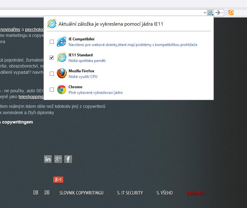 Renderovací jádra Avant Browseru