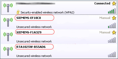 Nebezpečné názvy sítí SSID nesou označení výrobce