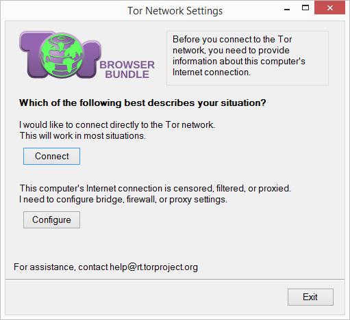 Nastavení sítě Toru: buď přistupovat přímo - nebo nastavit bridge, firewall a proxy