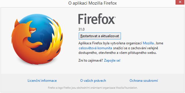 Firefox 32: už jen restartovat a aktualizovat