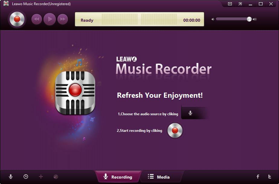 Leawo Music Redord - jednoduchý způsob na nahrávání zvuku a hudby