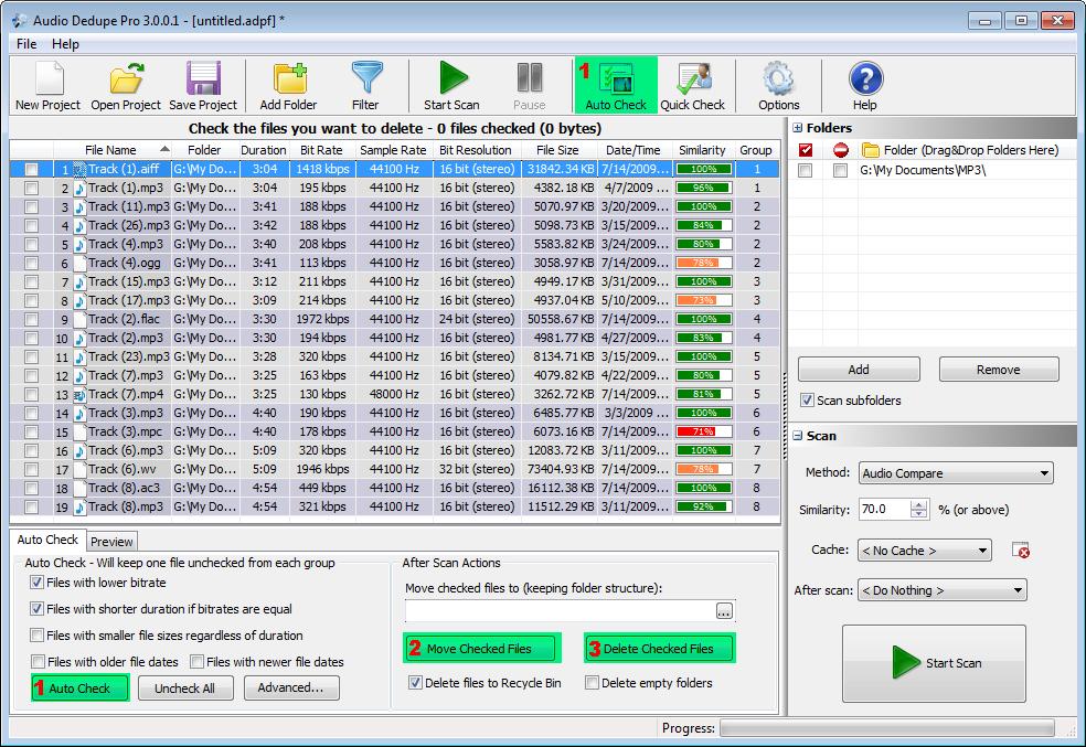 Audio Dedupe - snadné odstranění audio duplicitního obsahu