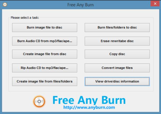 AnyBurn - jednoduchý program pro vypalování CD a DVD