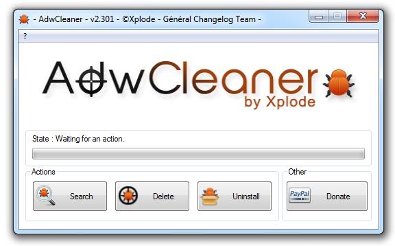 AdwCleaner - detekce reklam a jejich následné odstranění