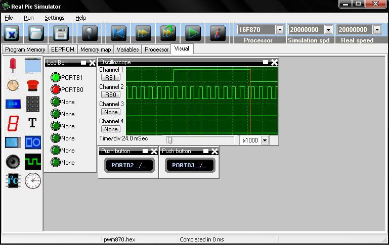 Real Pic Simulator - skvělý simulátor PIC obvodů