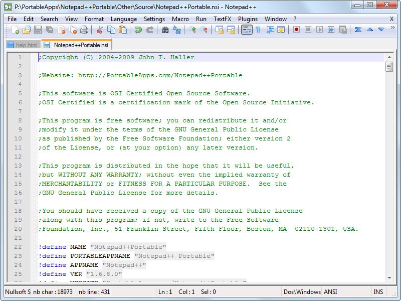 Notepad++ - programátorský editor zdrojových kódů