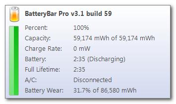 BatteryBar - potřebujete rychle zjistit stav baterie na notebooku?