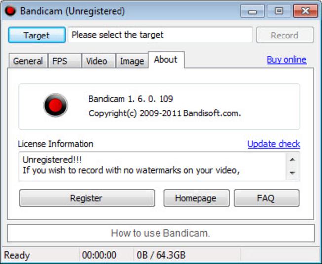 bandicam unregistered