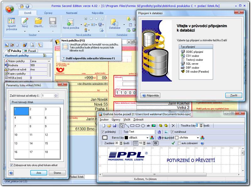 Formix SE - tvorba a vyplňování formulářů, tiskopisů, dokumentů a mnoho dalšího