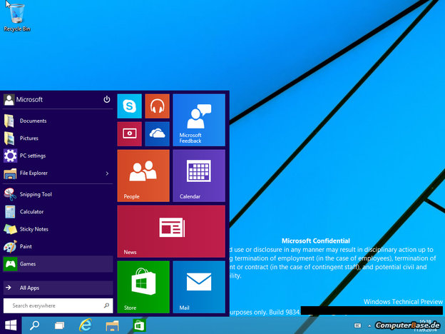 Windows 9: kombinace klasického tlačítka Start a dlaždic Windows8