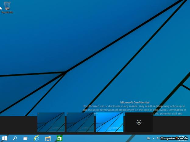 Windows 9: přepínač virtuálních ploch