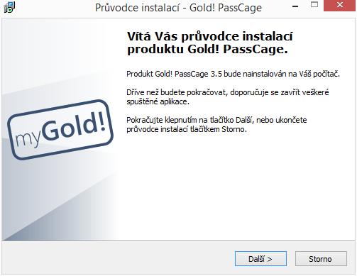 Gold! PassCage: instalace v češtině