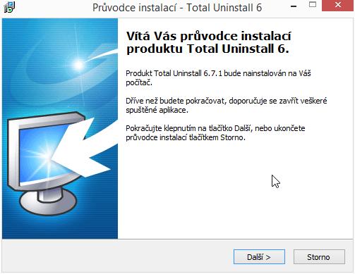 Total Uninstall nainstalujeme v češtině