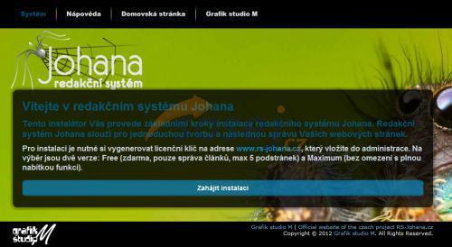 Redakční systém Johana - ucelený systém pro správu webových stránek