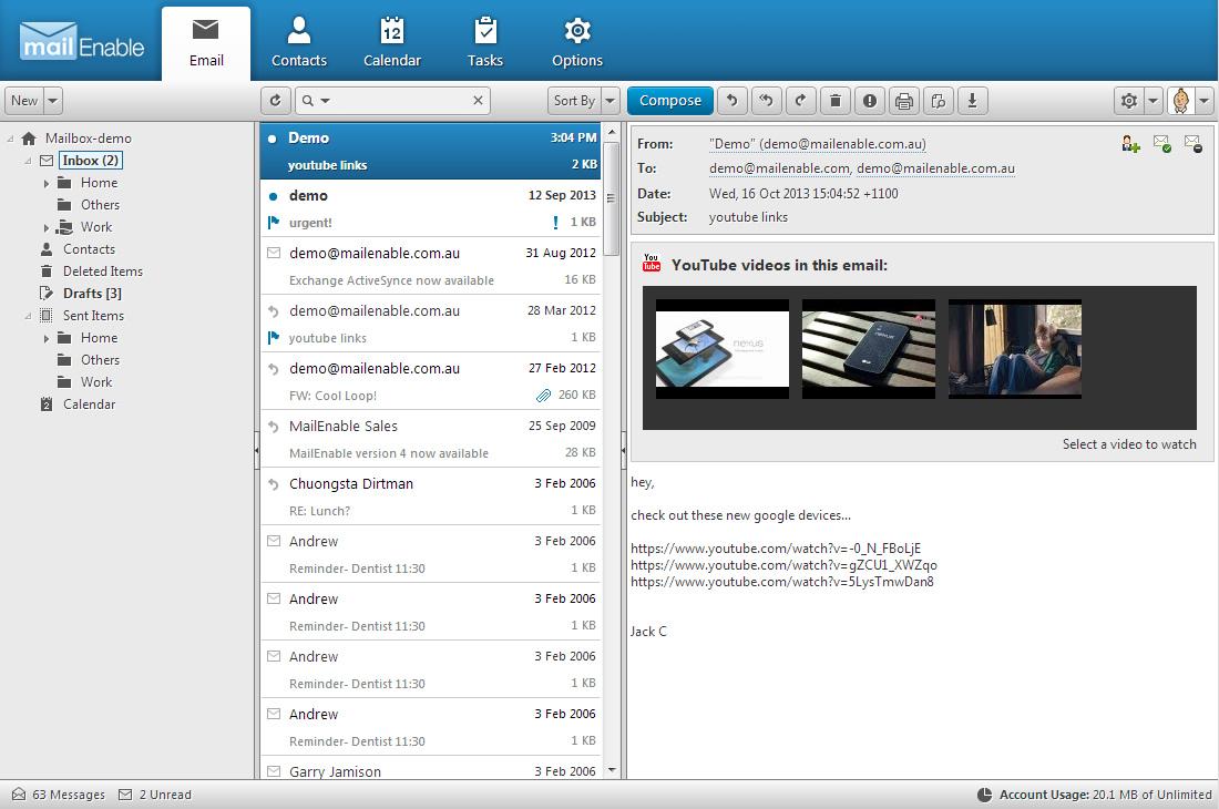 MailEnable Standard Edition - robustní služby pro SMTP, IMAP, POP3 a webmail