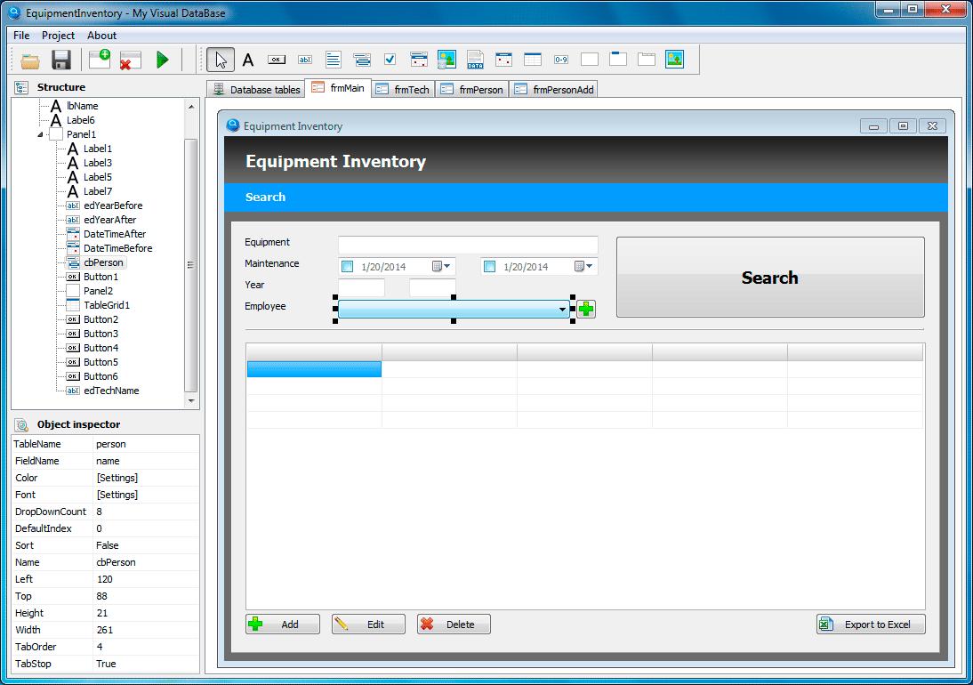 My Visual Database - tvorba vlastní databáze