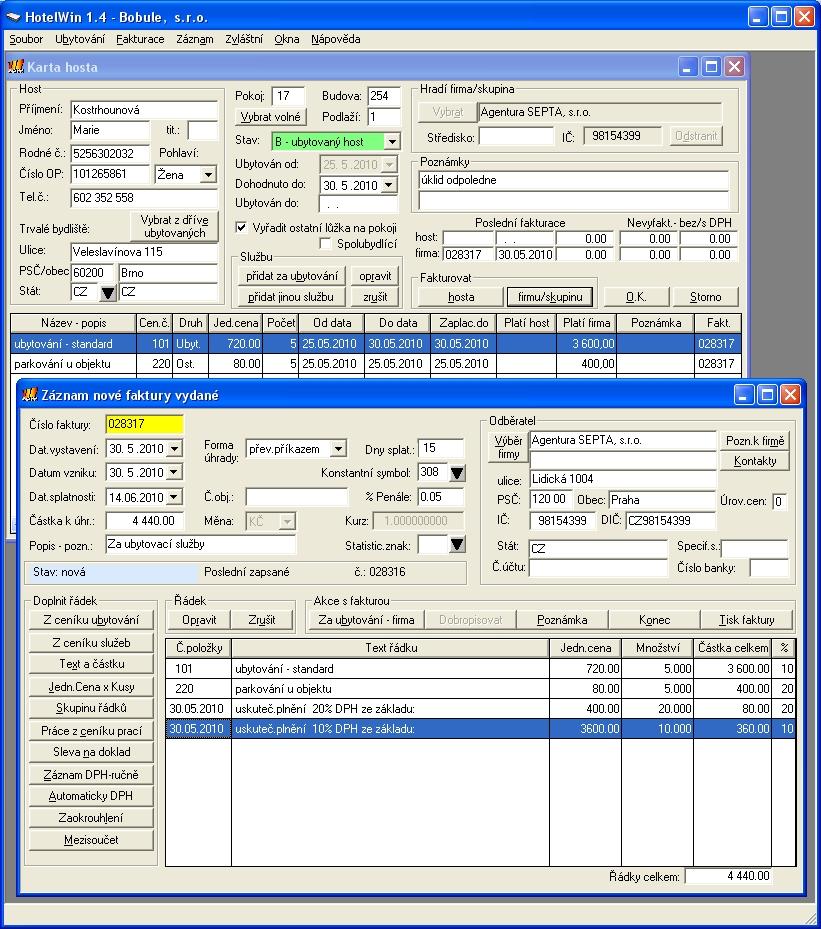 Hotelový systém HotelWin  - software pro hotely, penziony a ubytovny