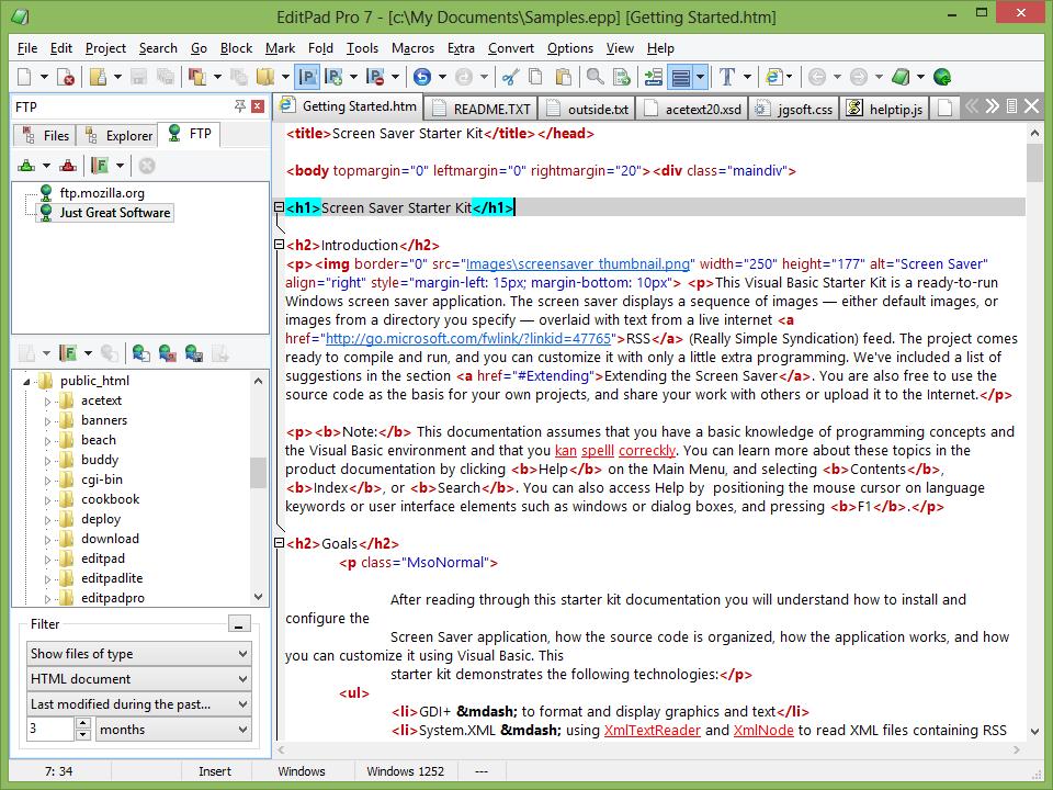 EditPad Pro - univerzální textový editor pro Windows