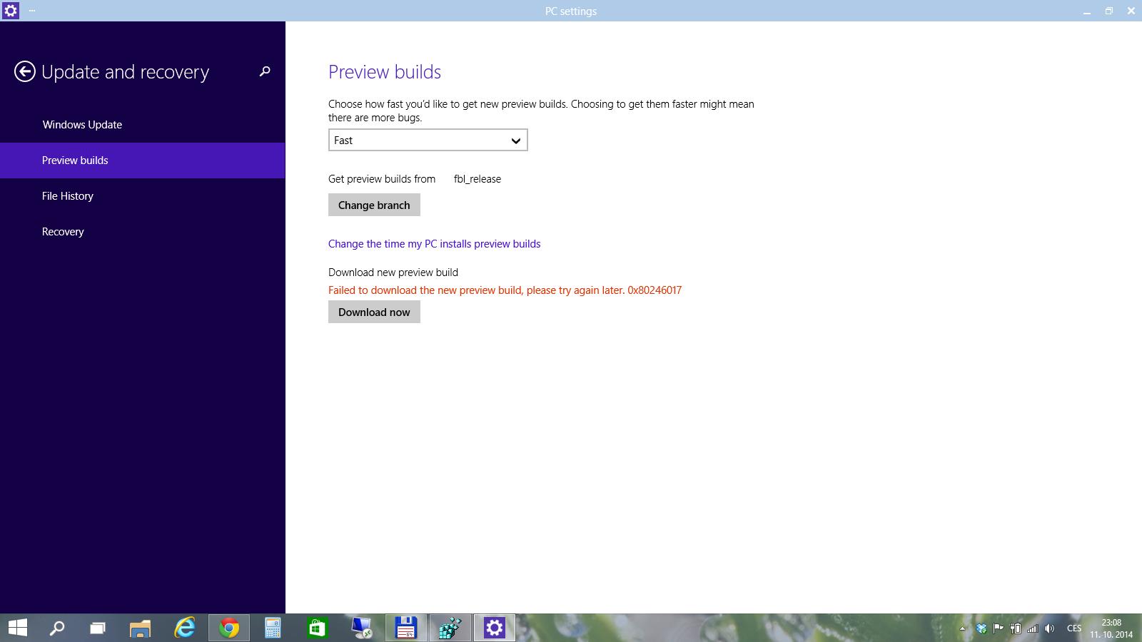 Windows 10 TP: Tweak frekvence a aktualizační větve nových buildů