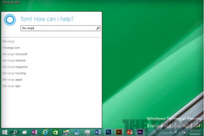 Cortana se skrývá pod lupou systémové lišty Windows 10