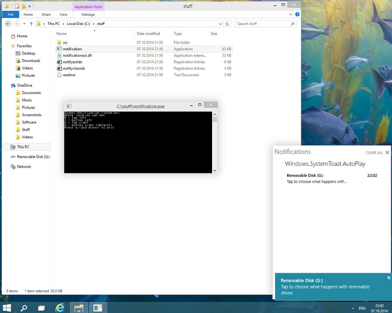 Notifikační centrum ve Windows 10 Technical Preview