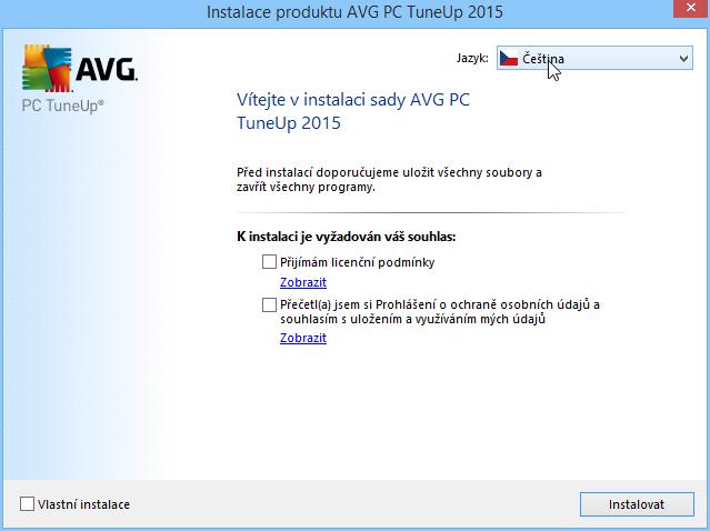 AVG PC TuneUp nainstalujeme v češtině