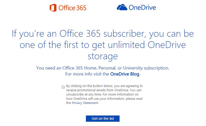 Zapište se do pořadí na neomezený cloud OneDrive