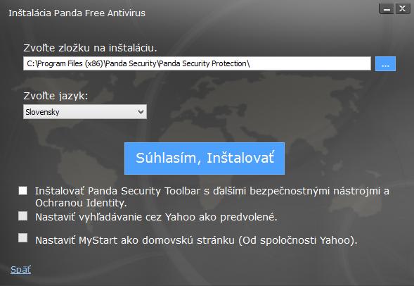 Panda Free Antivirus: anglicky či slovensky - hlavně bez toolbaru