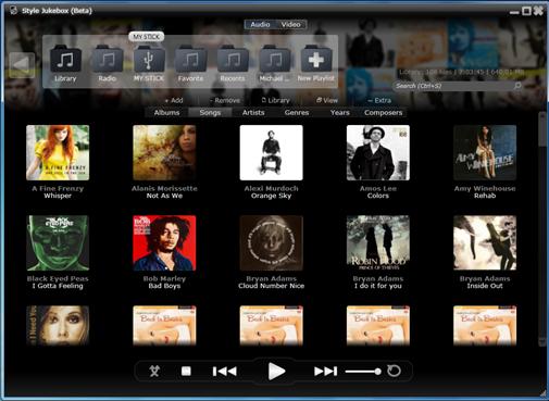 Style Jukebox - aby byla vaše hudba vždy s vámi