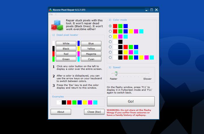 Pixel Repair - rychlé nalezení vadných pixelů na LDC moniterech
