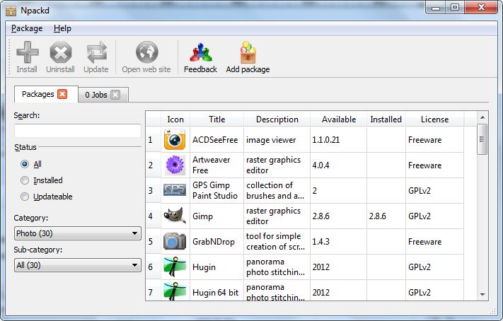 Npackd - jednoduchý správce aplikací ve vašem počítači