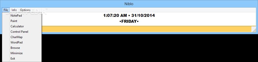 Niblo - nástroj pro přehled datumu a času